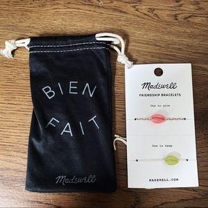 💕[NWT] Madewell Neon Cowrie Corded Bracelet Set